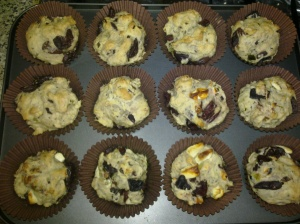Olive muffins and olive & feta muffins