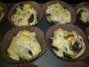 Olive muffins and olive and feta muffins