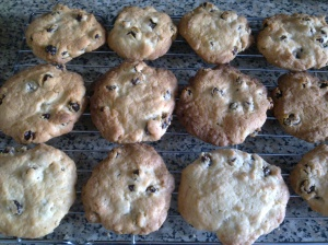Rum and raisin biscuits