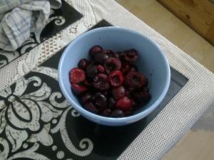 De-stoned cherries