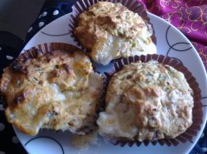 Courgette and mozzarella muffins