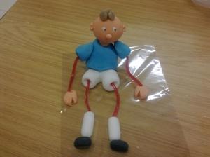 String footballer cake topper