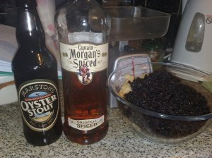 Dark rich mincemeat ingredients