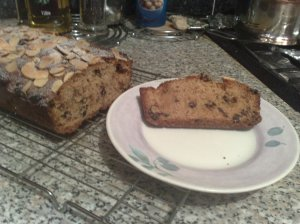 Mincemeat and marzipan teabread