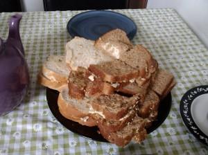 Housewarming afternoon tea sandwiches