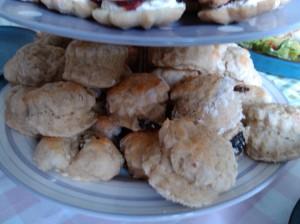 Housewarming afternoon tea scones