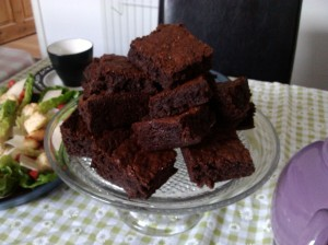 Housewarming afternoon tea toffee brownies