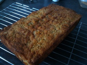 Banana, rum and raisin loaf