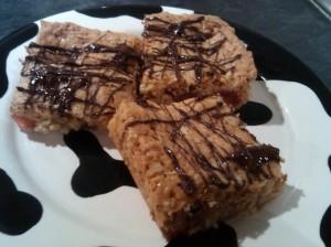 Cherry oat squares