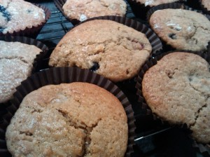 Raspberry and blueberry muffins 2