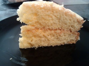 Orange macaroon cake