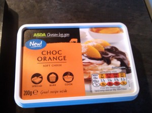Chocolate orange cream cheese