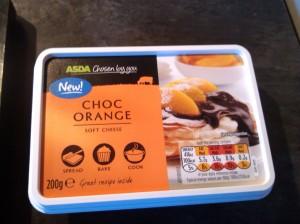 Chocolate orange cream cheese