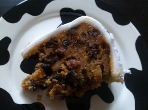 Not a Christmas cake slice