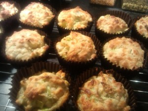 Cheddar and leek muffins