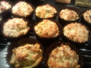 Cheddar and leek muffins